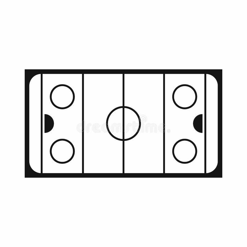 Lodowego hokeja lodowiska ikona, prosty styl ilustracja wektor