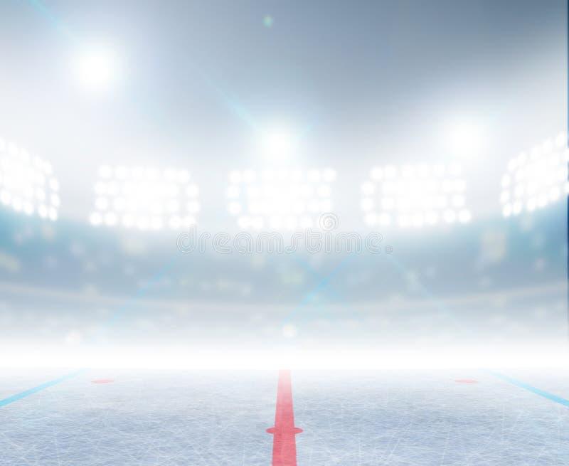 Lodowego hokeja lodowiska stadium ilustracji