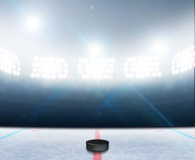 Lodowego hokeja lodowiska stadium royalty ilustracja