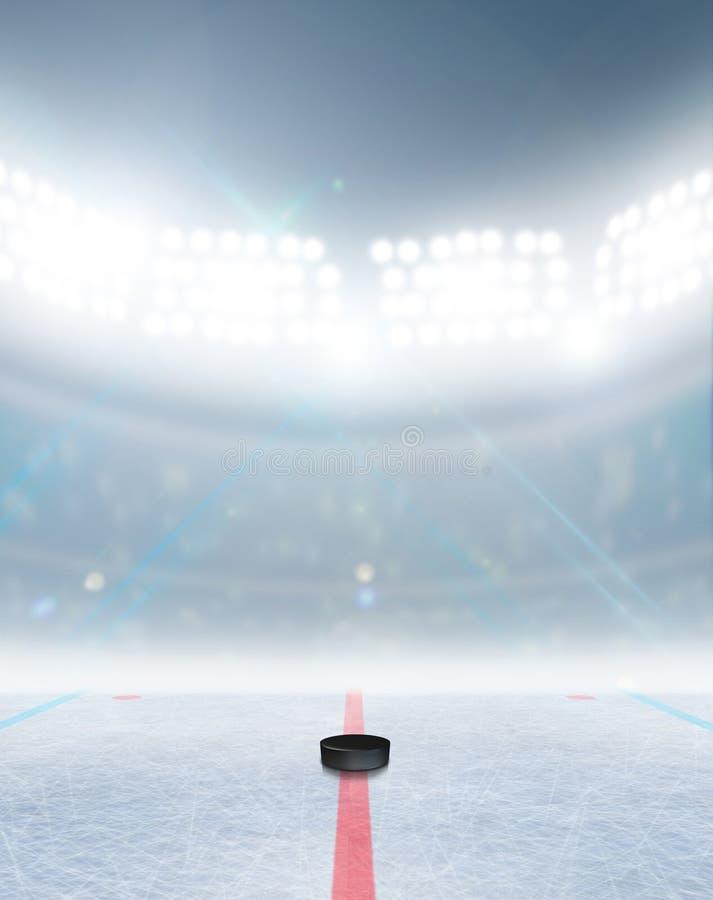 Lodowego hokeja lodowiska stadium zdjęcie royalty free
