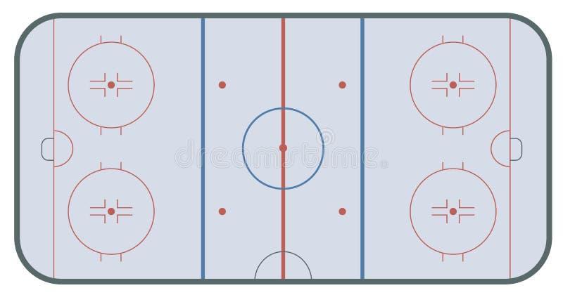 Lodowego hokeja lodowisko royalty ilustracja