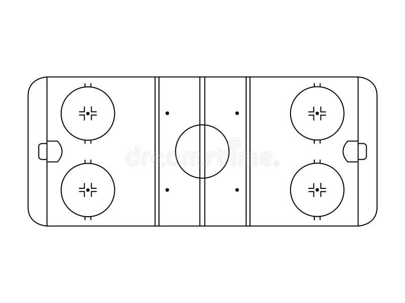 Lodowego hokeja lodowisko ilustracji