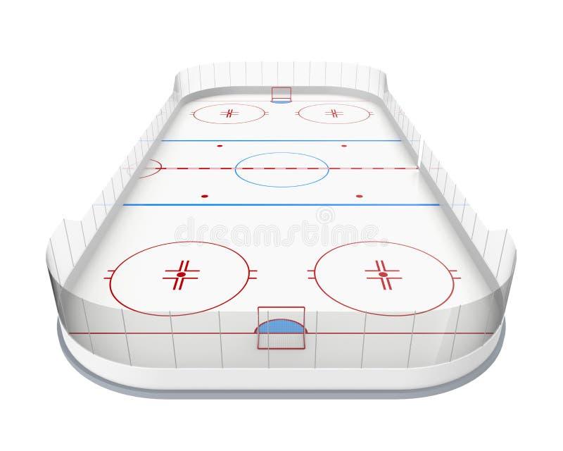 Lodowego hokeja lodowisko Odizolowywający ilustracji