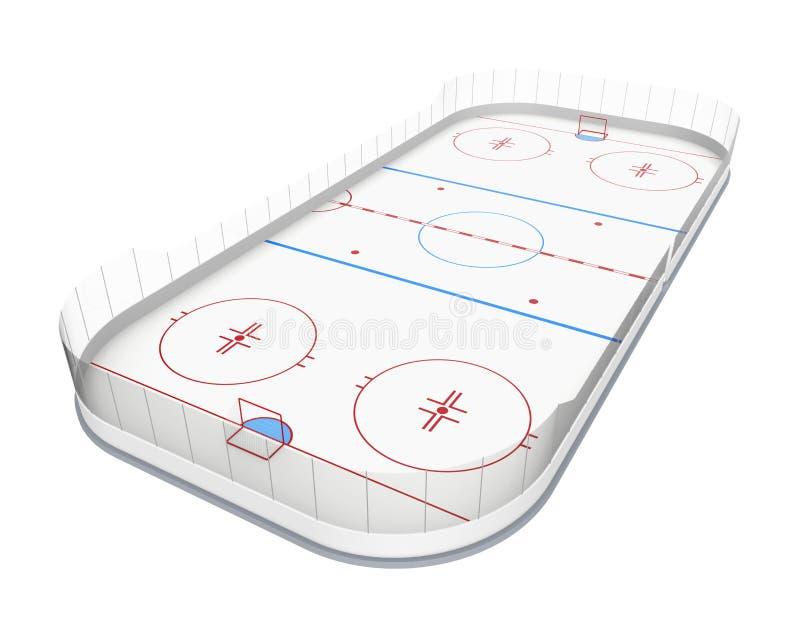 Lodowego hokeja lodowisko Odizolowywający royalty ilustracja