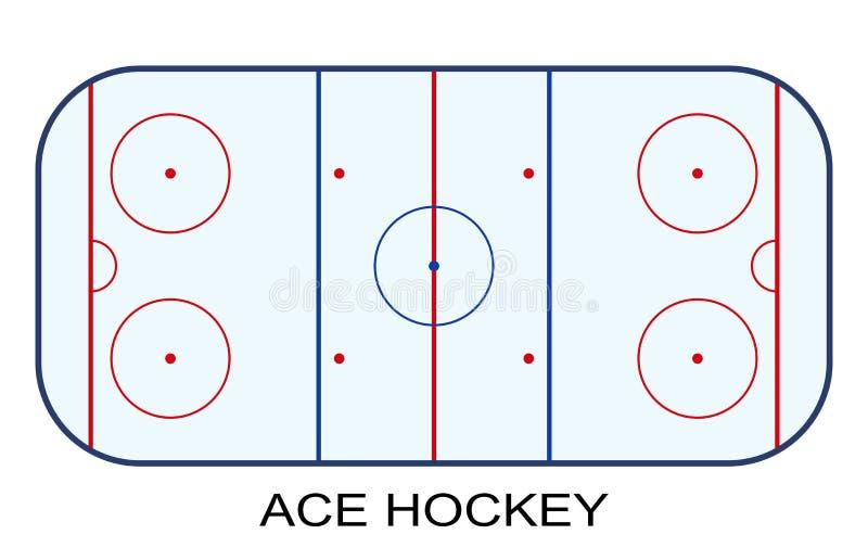 Lodowego hokeja lodowisko odizolowywający na białym tle ilustracja wektor