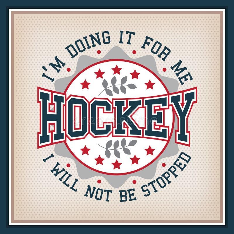 Lodowego hokeja odznaka ilustracja wektor