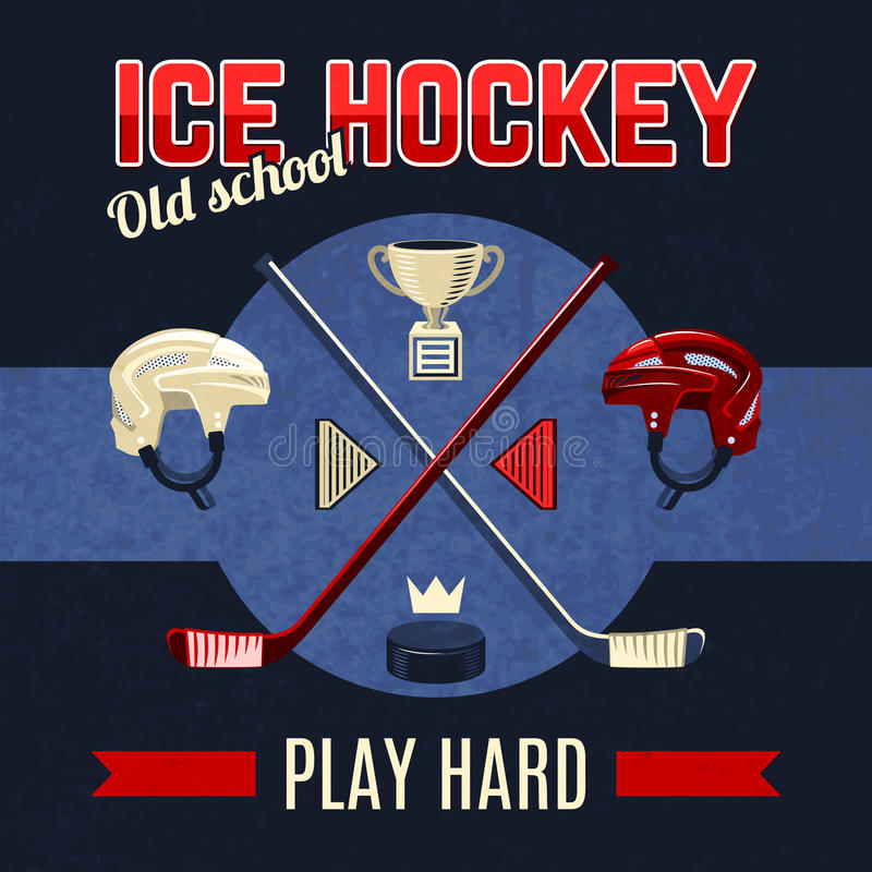 Lodowego hokeja plakat ilustracja wektor