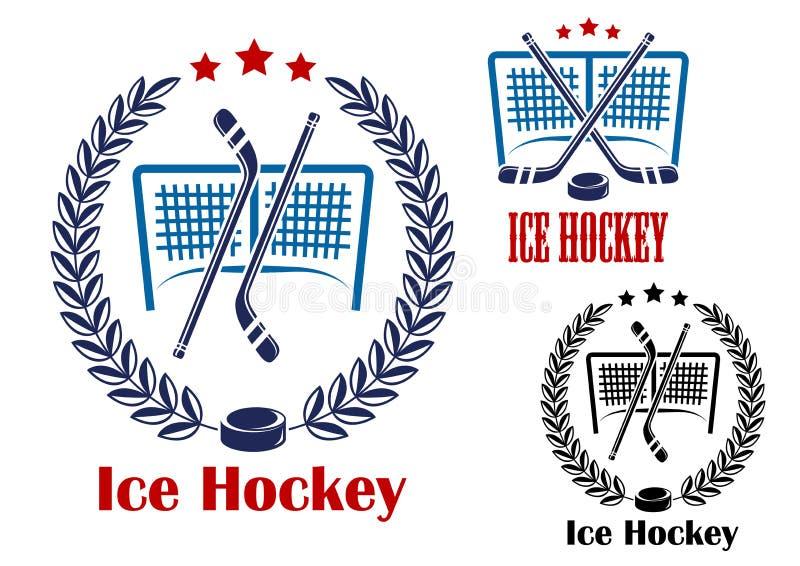Lodowego hokeja sieci emblematy royalty ilustracja