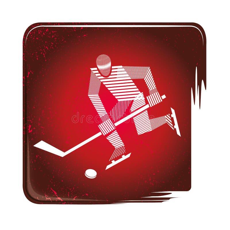 Lodowego hokeja stripy ikona ilustracja wektor