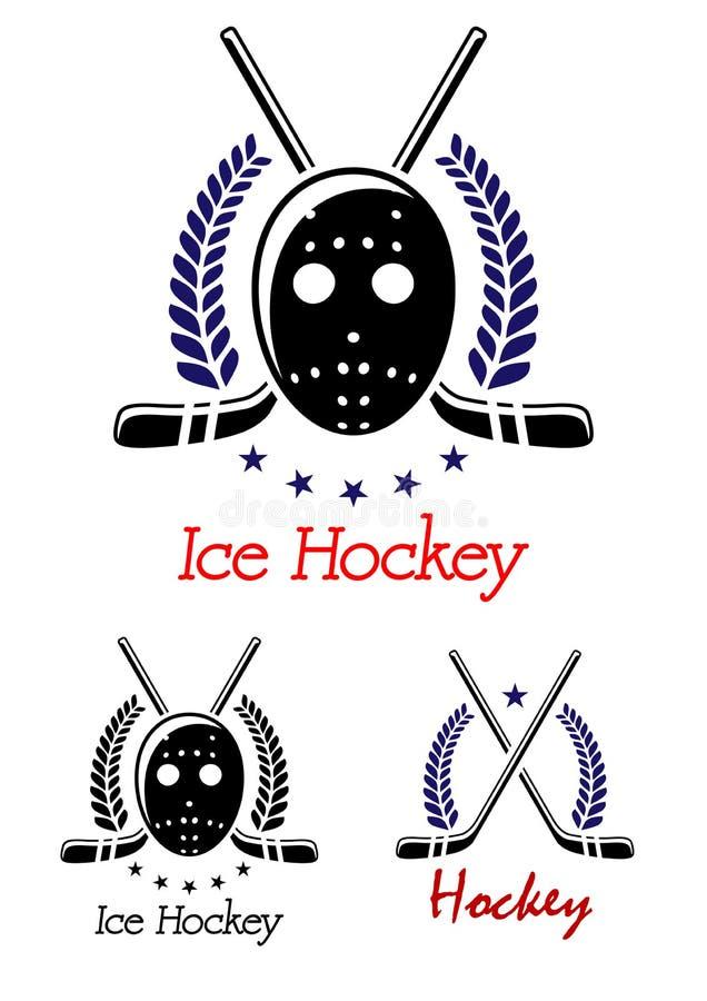 Lodowego hokeja symbole ustawiający royalty ilustracja