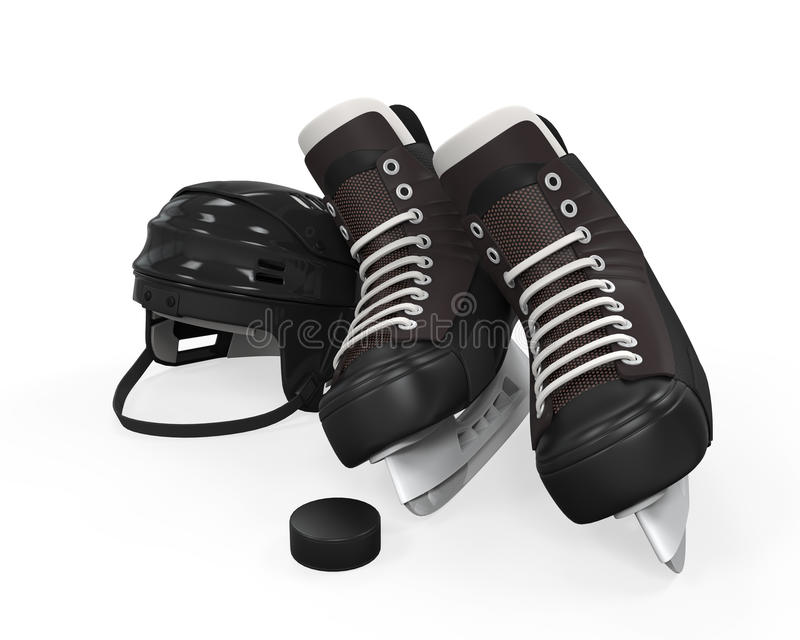 Lodowego hokeja wyposażenie royalty ilustracja