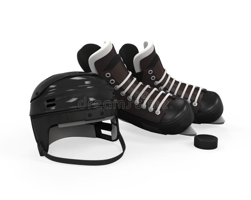 Lodowego hokeja wyposażenie ilustracja wektor