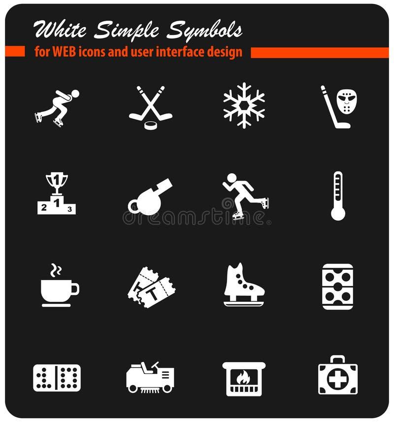 Lodowego lodowiska ikony set ilustracji