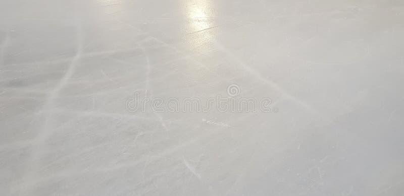 Lodowego lodowiska podłogi powierzchni tekstura w zima czasie i tło, obraz royalty free