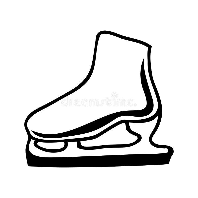 Lodowej łyżwy ikony wizerunek ilustracja wektor