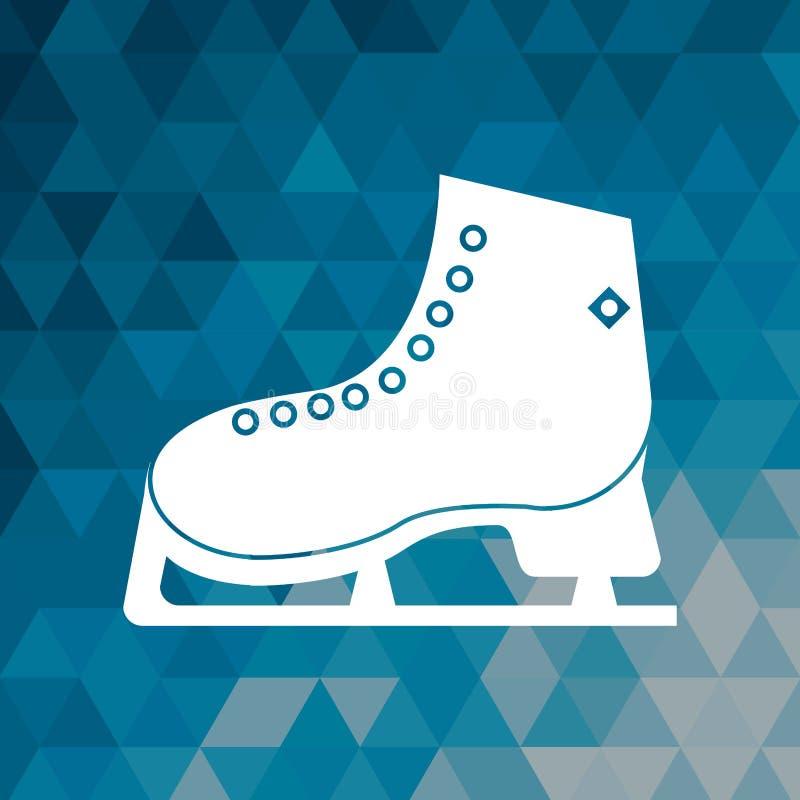 Lodowej łyżwy zimy sporta błękitny abstrakcjonistyczny tło ilustracji