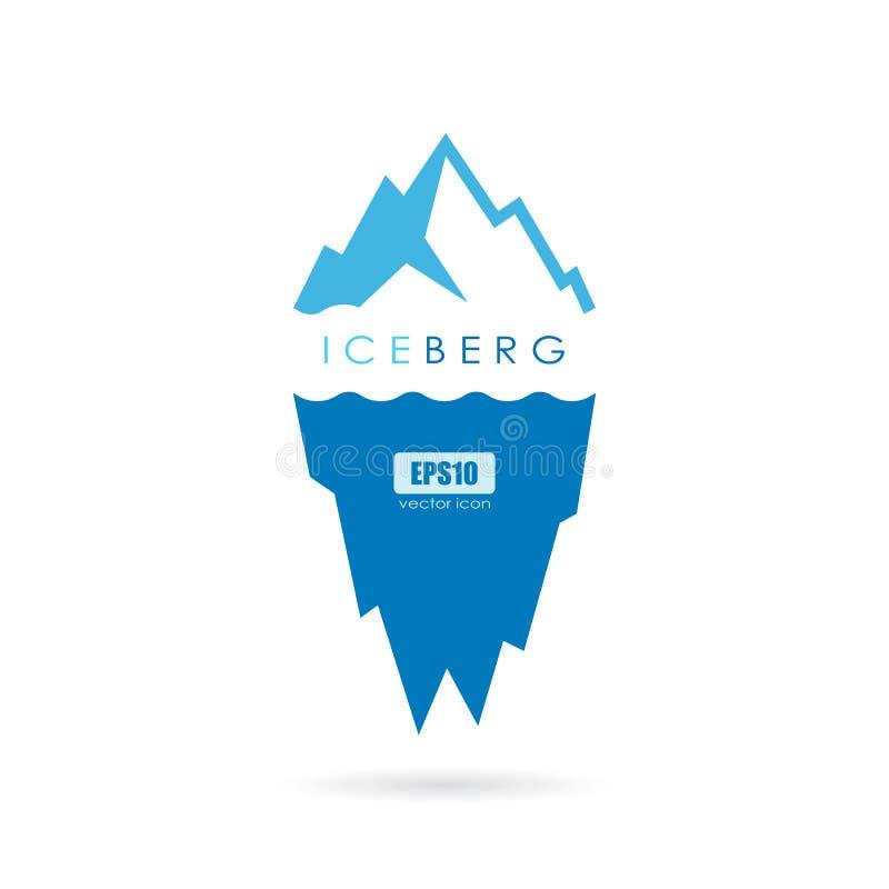 Lodowej góry lodowa wektoru logo ilustracji