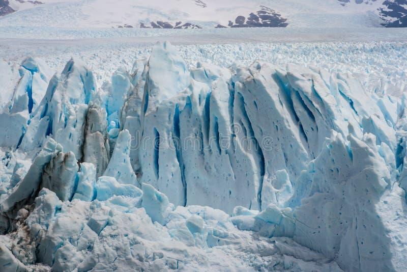 Lodowi crevasses na Perito Moreno lodowu w Patagonia fotografia royalty free