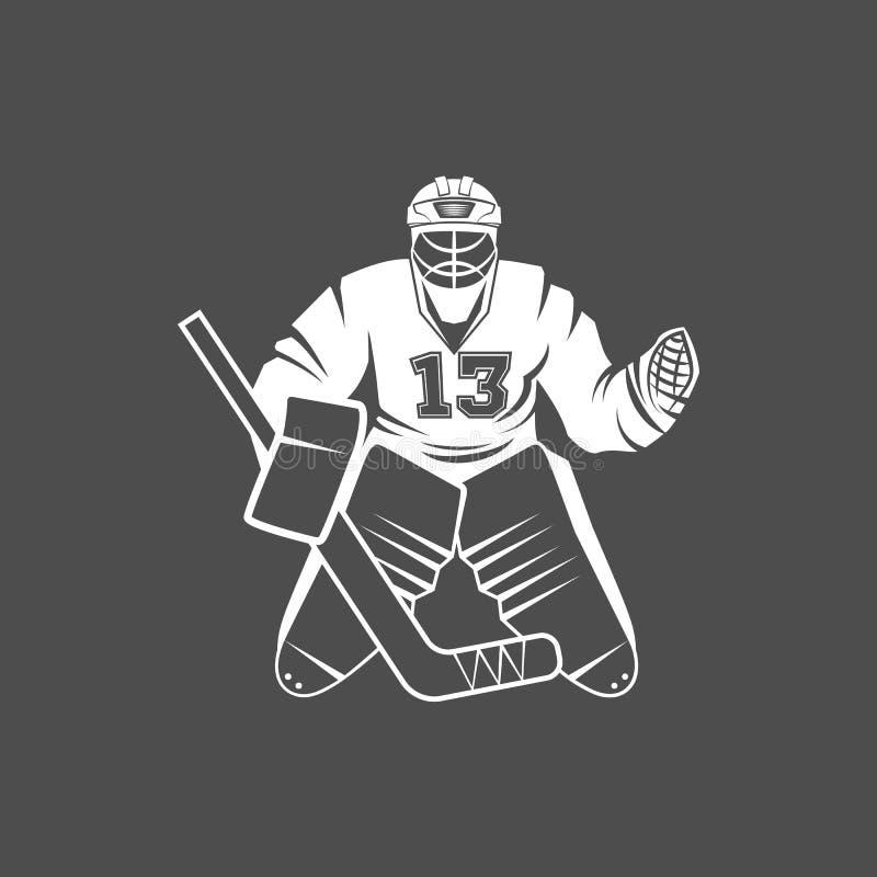 Lodowi gracz w hokeja royalty ilustracja