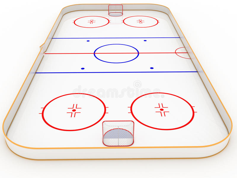 Lodowi lodowiska hokejowi ilustracji