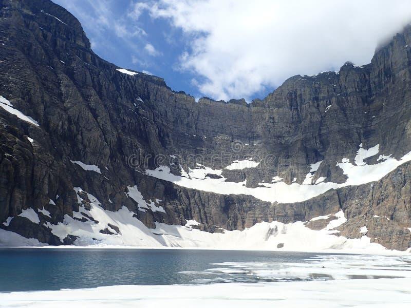 Lodowiec jezioro zdjęcie royalty free