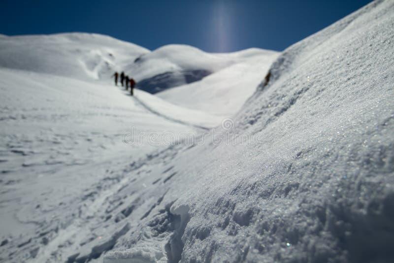 Lodowiec narciarska wycieczka turysyczna obrazy stock