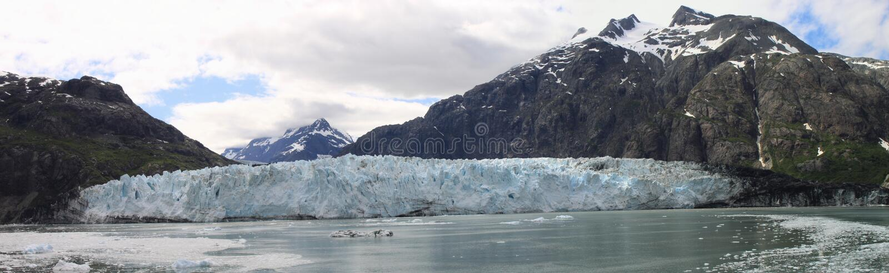 lodowiec podpalana panorama obrazy royalty free