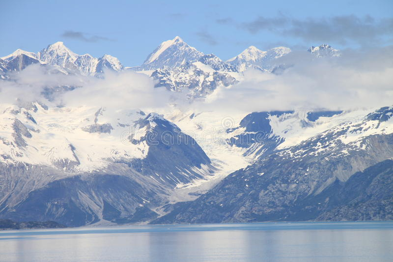 lodowiec podpalane góry obraz royalty free
