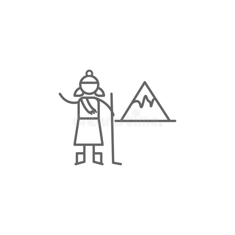 Lodowiec, przygody ikona Element przygody ikona Cienka kreskowa ikona dla strona internetowa projekta i rozwoju, app rozw?j premi ilustracji