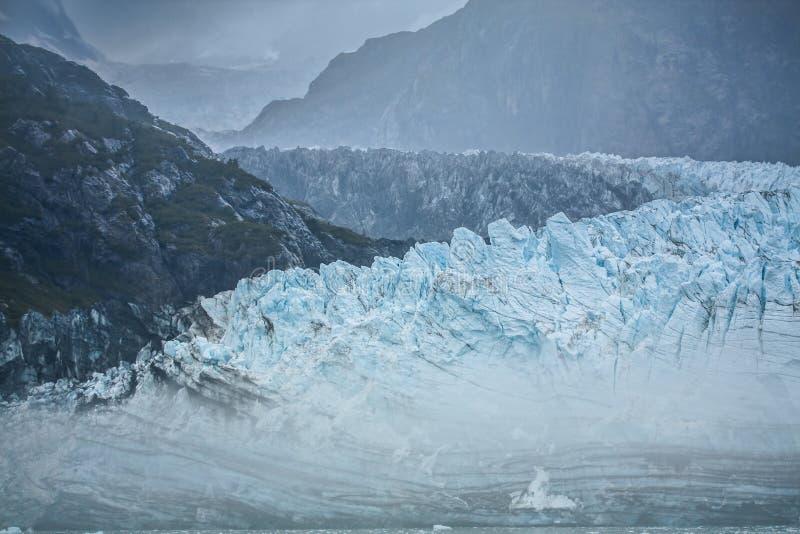 Lodowiec Zatoka, Alaska obrazy royalty free