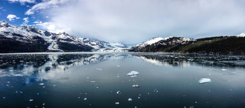 Lodowiec zatoki park narodowy w Alaska usa zdjęcie stock