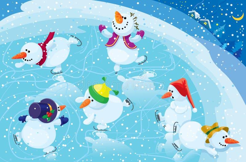 lodowiska łyżwiarstwo ilustracja wektor