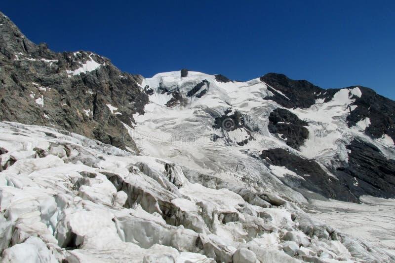 Lodowowie i skały góry krajobraz obrazy stock