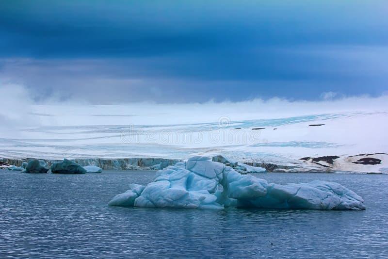 Lodowowie na Franz Joseph ziemi, hełmiasty lodowiec obraz royalty free