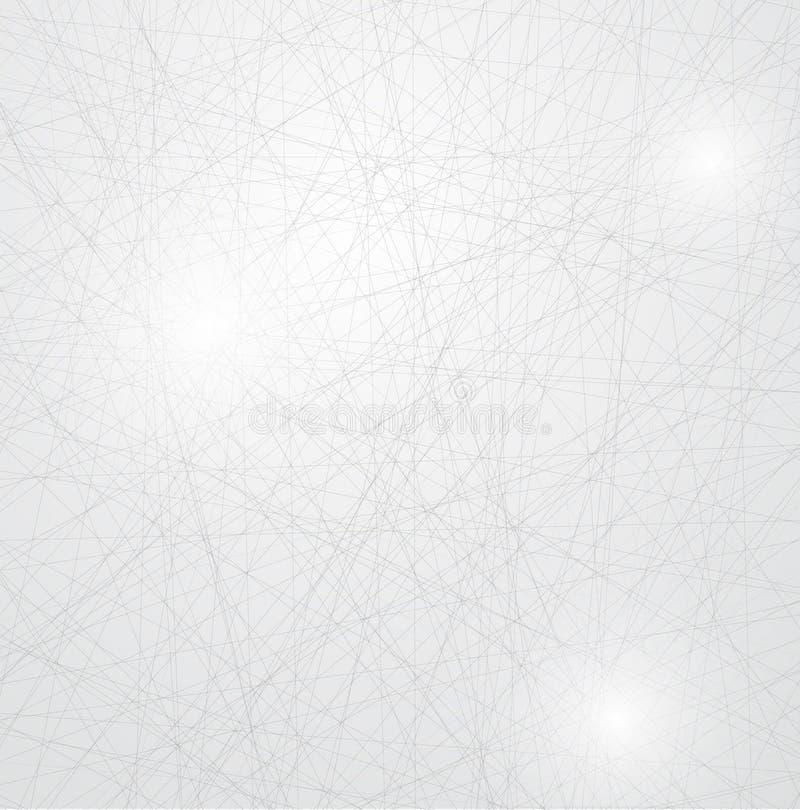 Lodowy abstrakcjonistyczny tło z linii teksturą mroźna powierzchnia ilustracji