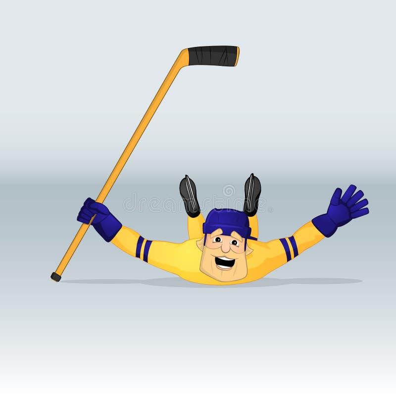 Lodowy drużyny hokejowej Sweden gracz royalty ilustracja
