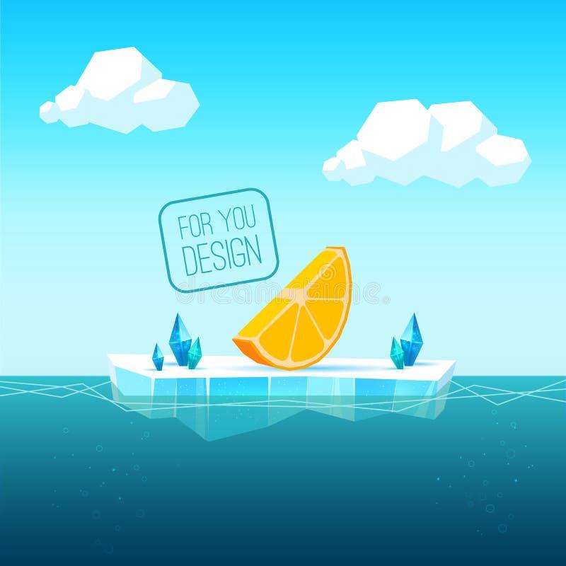Lodowy floe ilustracji