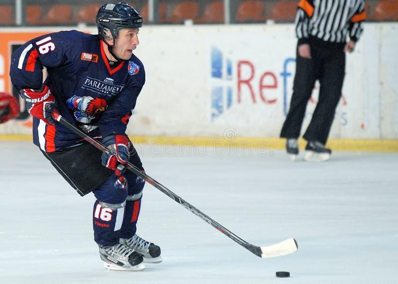 Lodowy gracz w hokeja fotografia royalty free