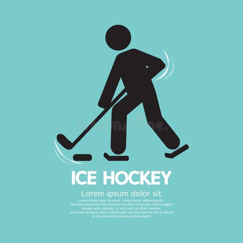 Lodowy gracz w hokeja symbol royalty ilustracja