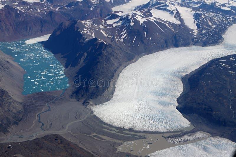 lodowy Greenland jezioro obraz stock