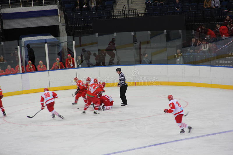 Lodowy hokej fotografia stock