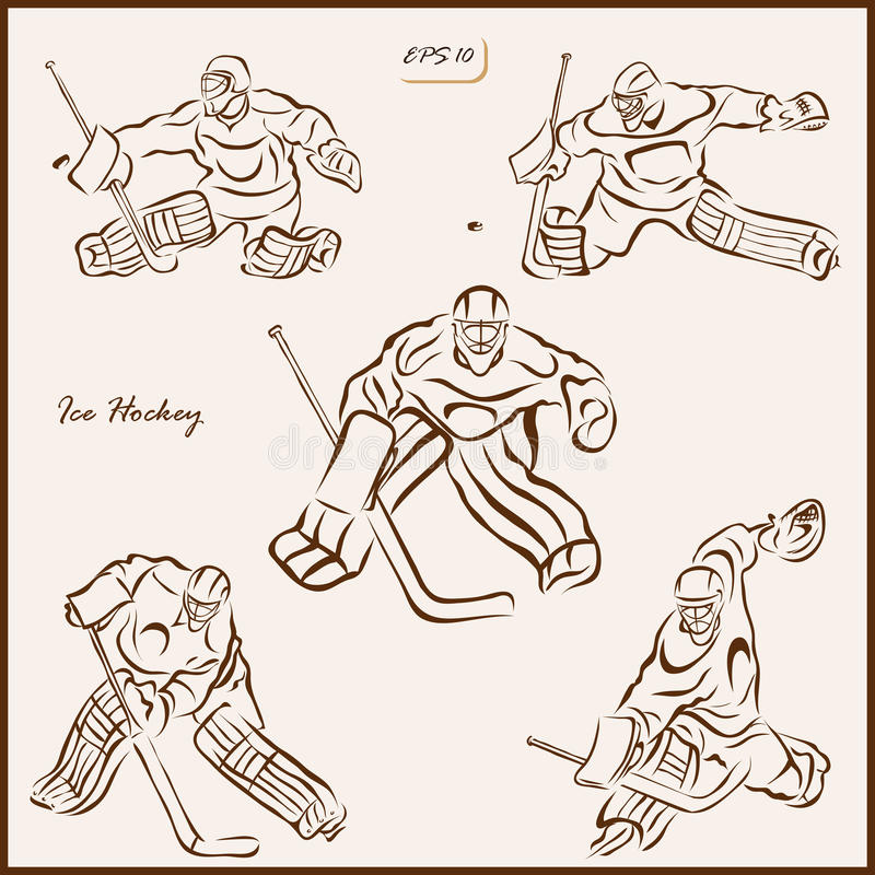 Lodowy hokej ilustracji