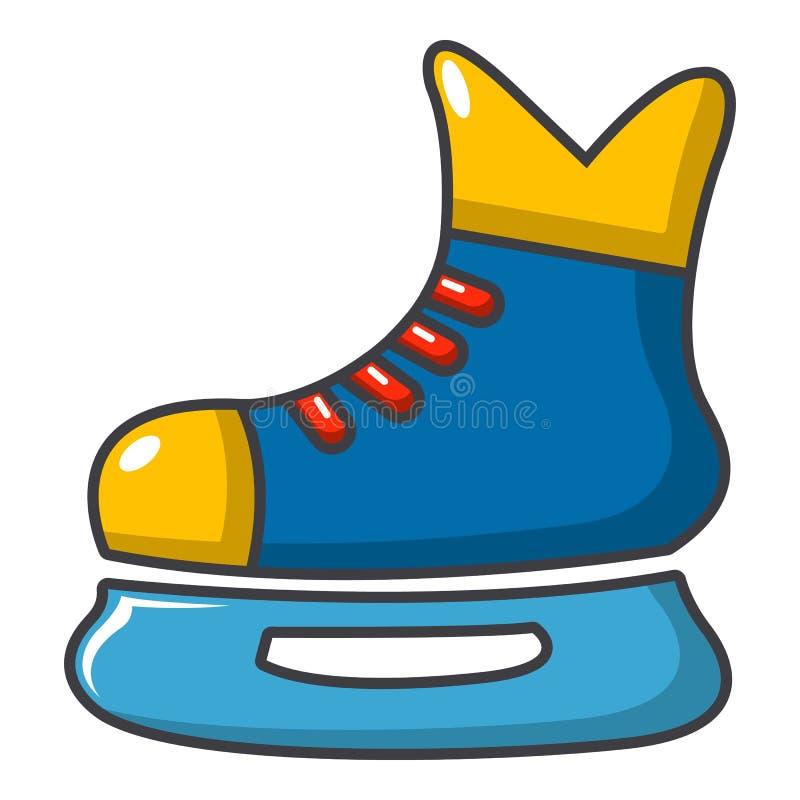 Lodowy hokej jeździć na łyżwach ikonę, kreskówka styl royalty ilustracja