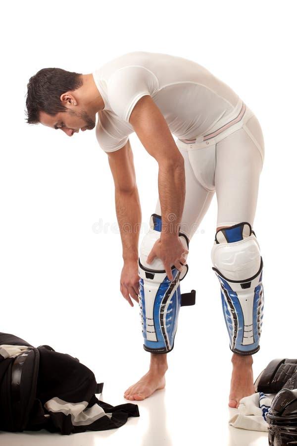 lodowy hokeja gracz fotografia stock