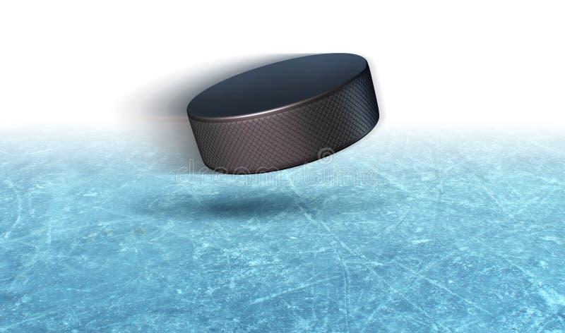 Lodowy Hokejowego krążka hokojowego tło royalty ilustracja