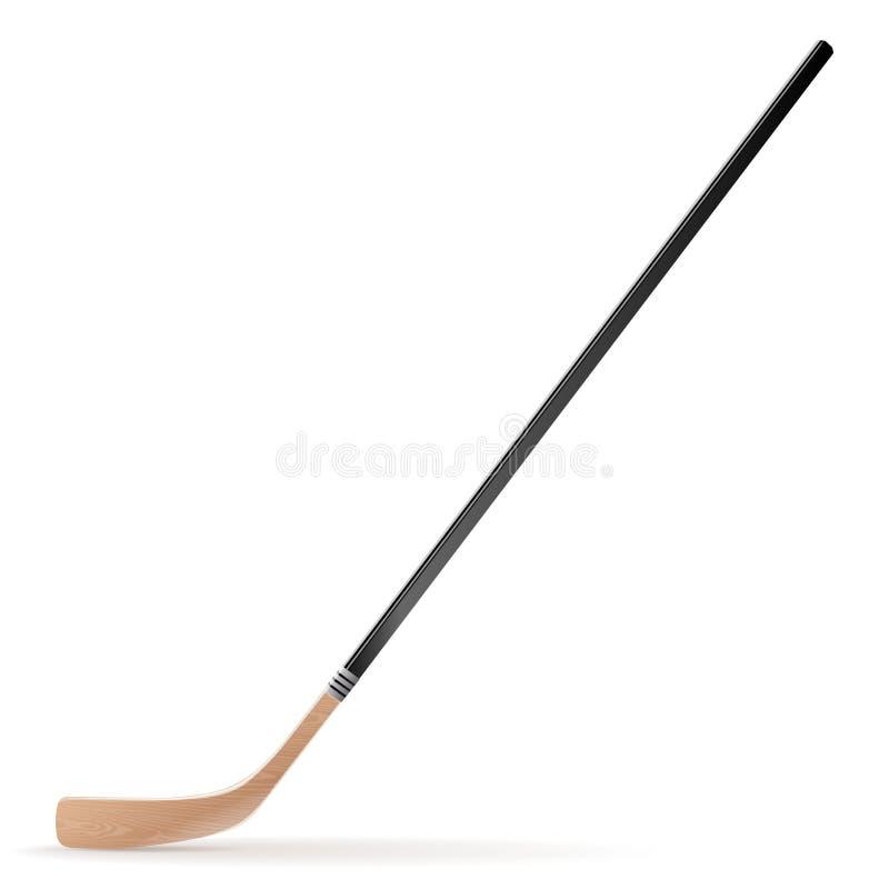 Lodowy hokejowy kij odizolowywający na białym tle ilustracji