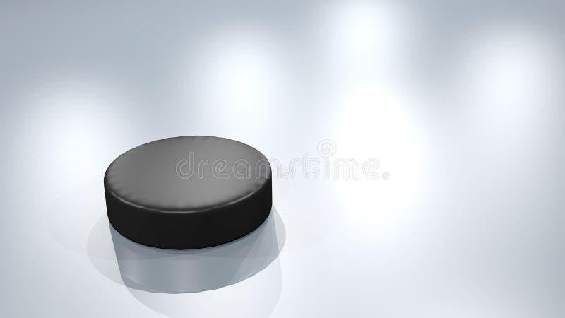 Lodowy hokejowy krążek hokojowy royalty ilustracja