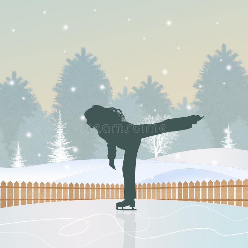 Lodowy lodowisko royalty ilustracja