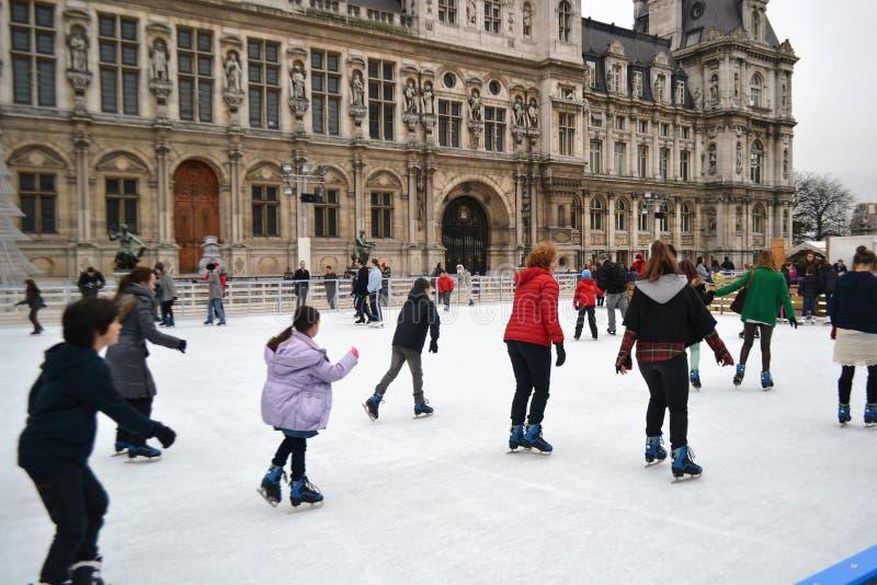 Lodowy lodowisko w Paryż fotografia royalty free