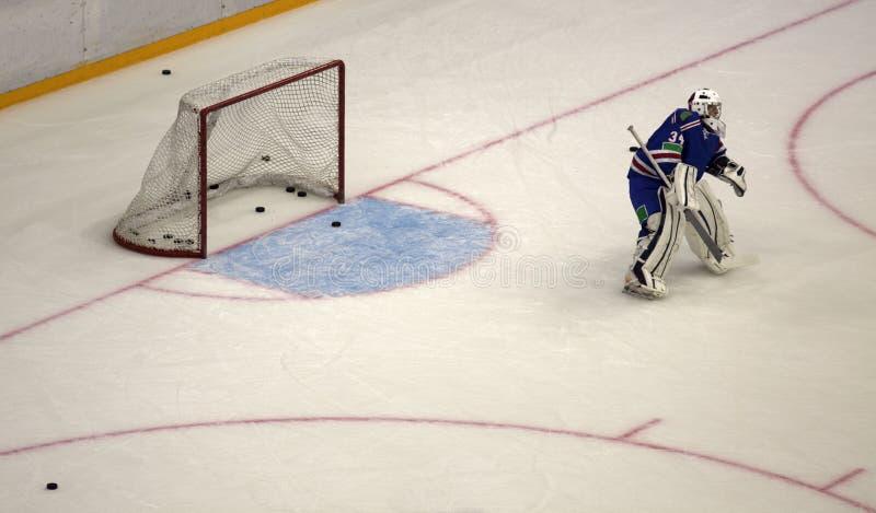 Lodowy mecz hokeja zdjęcia stock